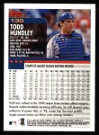2000 Topps #130  Todd Hundley  Back Thumbnail