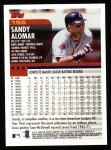 2000 Topps #155  Sandy Alomar Jr.  Back Thumbnail