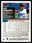 2000 Topps #110  Alex Fernandez  Back Thumbnail