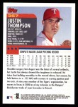 2000 Topps #357  Justin Thompson  Back Thumbnail
