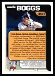 2000 Topps #458   -  Wade Boggs Season Highlights Back Thumbnail