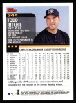 2000 Topps #344  Todd Ritchie  Back Thumbnail