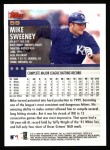 2000 Topps #59  Mike Sweeney  Back Thumbnail