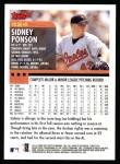 2000 Topps #424  Sidney Ponson  Back Thumbnail