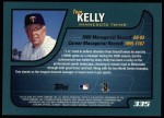 2001 Topps #335  Tom Kelly  Back Thumbnail