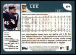 2001 Topps #64  Carlos Lee  Back Thumbnail