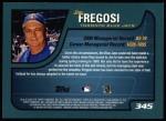 2001 Topps #345  Jim Fregosi  Back Thumbnail