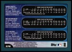 2001 Topps #376  Bobby Kielty / Milton Bradley / Juan Rivera  Back Thumbnail