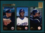 2001 Topps #376  Bobby Kielty / Milton Bradley / Juan Rivera  Front Thumbnail