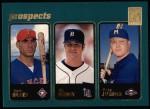 2001 Topps #371  Travis Hafner / Bucky Jacobsen  Front Thumbnail