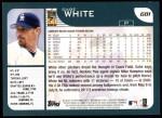 2001 Topps #681  Gabe White  Back Thumbnail