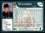 2001 Topps #249  Omar Olivares  Back Thumbnail
