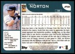 2001 Topps #256  Greg Norton  Back Thumbnail