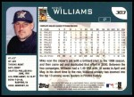 2001 Topps #126  Mike Williams  Back Thumbnail