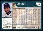 2001 Topps #192  Stan Javier  Back Thumbnail