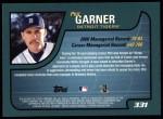 2001 Topps #331  Phil Garner  Back Thumbnail
