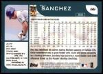 2001 Topps #66  Rey Sanchez  Back Thumbnail