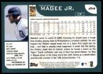 2001 Topps #214  Wendell Magee Jr.  Back Thumbnail