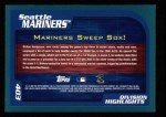 2001 Topps #403   Seattle Mariners Back Thumbnail