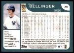 2001 Topps #26  Clay Bellinger  Back Thumbnail