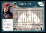 2001 Topps #125  Ken Caminiti  Back Thumbnail