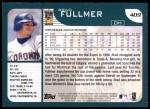 2001 Topps #409  Brad Fullmer  Back Thumbnail