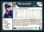 2001 Topps #259  Dan Reichert  Back Thumbnail