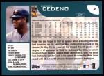 2001 Topps #3  Roger Cedeno  Back Thumbnail