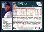 2001 Topps #560  Mariano Rivera  Back Thumbnail