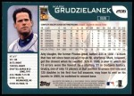 2001 Topps #206  Mark Grudzielanek  Back Thumbnail