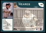2001 Topps #28  Pat Meares  Back Thumbnail