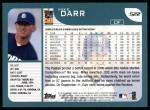 2001 Topps #522  Mike Darr  Back Thumbnail