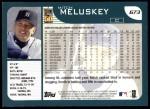 2001 Topps #673  Mitch Meluskey  Back Thumbnail
