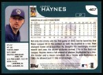 2001 Topps #467  Jimmy Haynes  Back Thumbnail