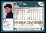 2001 Topps #453  Russ Ortiz  Back Thumbnail