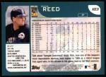 2001 Topps #103  Rick Reed  Back Thumbnail
