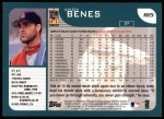 2001 Topps #165  Andy Benes  Back Thumbnail