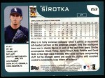 2001 Topps #153  Mike Sirotka  Back Thumbnail