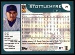 2001 Topps #21  Todd Stottlemyre  Back Thumbnail
