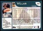 2001 Topps #267  Kevin Millar  Back Thumbnail