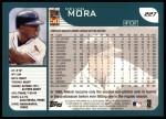 2001 Topps #227  Melvin Mora  Back Thumbnail
