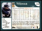2001 Topps #240  Frank Thomas  Back Thumbnail