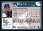 2001 Topps #447  Eric Gagne  Back Thumbnail