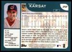 2001 Topps #212  Steve Karsay  Back Thumbnail