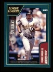 2001 Topps #395   -  Barry Bonds / Jason Giambi League Leaders Back Thumbnail