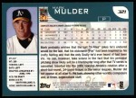 2001 Topps #321  Mark Mulder  Back Thumbnail