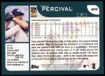 2001 Topps #419  Troy Percival  Back Thumbnail