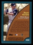 2001 Topps #390   -  Troy Glaus Season Highlights Back Thumbnail