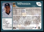 2001 Topps #476  Ramiro Mendoza  Back Thumbnail