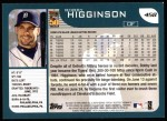 2001 Topps #458  Bobby Higginson  Back Thumbnail